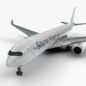 a350-900 south african airways 3D model