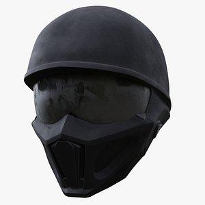 full-face helmet 3D model