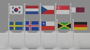 flag p 3D model