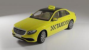 3D Mercedes Benz E Class Taxi