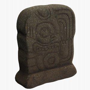 Mayan Statue 3D model