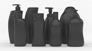 3D Plastic Bottles model