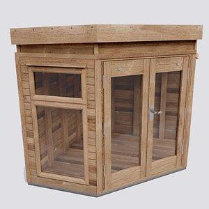 timber summerhouse 3D model