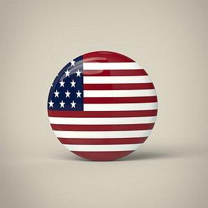 United States of America Badge 3D model