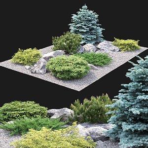 3D Alpine Hill 02 model
