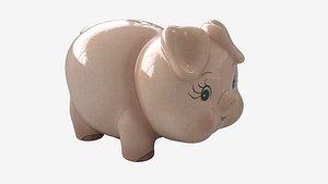 3D vintage piggy bank