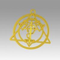 Transmutation Symbol FullMetal Alchemist Necklace Alchemy Necklace for Anime Lovers
