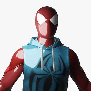 Spiderman Scarlet Spider High Resolution Model 3D