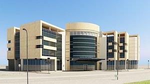 3D modern building office