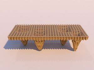 parametric table - 3D model