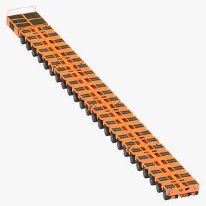 24 axle lines modular 3D model
