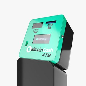 3D model Cryptocurrency BitcoinCash BCH ATM