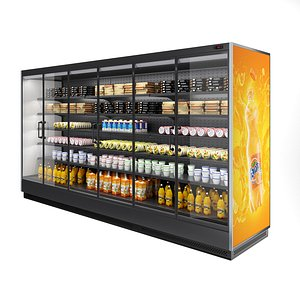 Vertical Refrigerated Display Case Tesey 3D