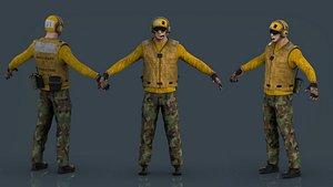US NAVY Flight Deck Crew 3D model