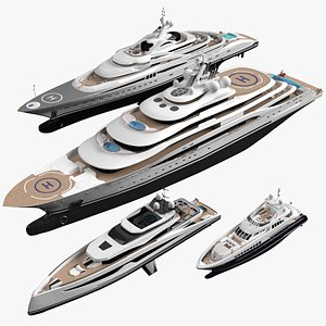 Collection Yachts July 2021 3D model