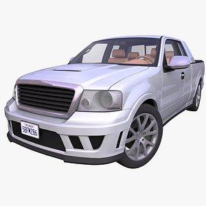 generic pick-up truck interior car 3D model