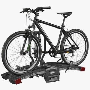 3D model Thule EasyFold XT2 with Mountain Bike
