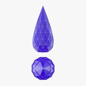 3D printable stl drop model