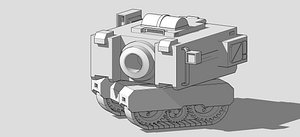 toy tank modeled tanque 3D model
