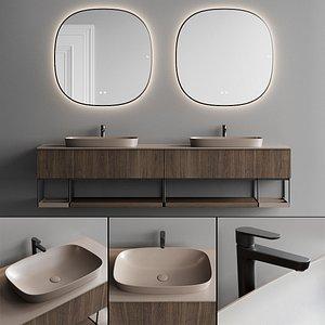 3D model Fiora Sen Vanity Unit Set 2