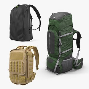 Backpacks Collection 8 3D model