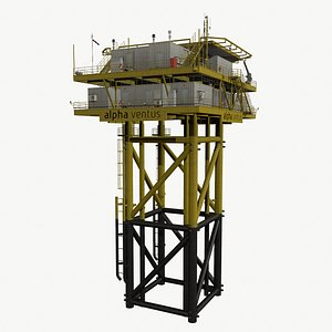3D offshore wind substation