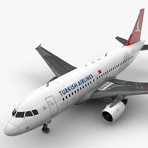 Airbus A319-100 TURKISH Airlines L1377 3D