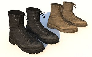 3D military soldier boots -