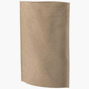 3D zipper kraft paper bag