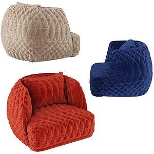 3D model redondo armchair