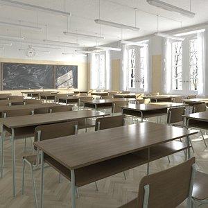 class classroom 3D model