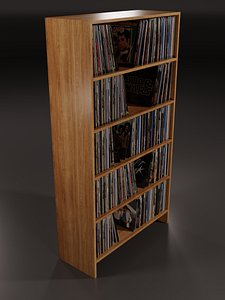 vinyl storage shelf 3D