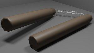 3D model Basic Low Poly Nunchucks