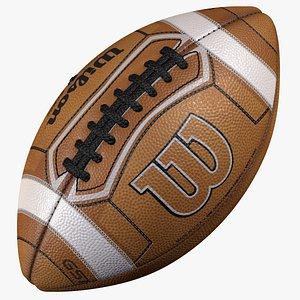 Realistic Wilson GST PRIME American Football Ball 8K 3D