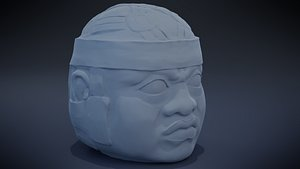 3D Olmec Head model