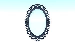 3D Oval Mirror Frame