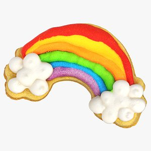 3D rainbow cookie 01 model