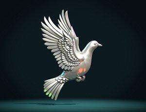 3D Pigeon relief