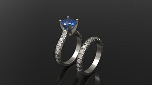 solitaire engagement ring model