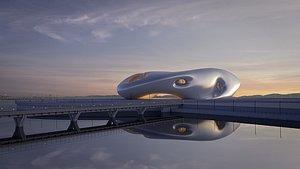3D model Futuristicbuilding 38