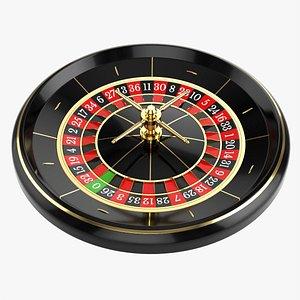 3D Casino roulette wheel 02