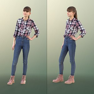 girl young standing model
