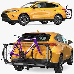 Hybrid SUV with Bike Rack Aluminum Platform Road Bike 3D model