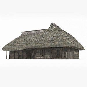 Ancient Asia Japan post inn model
