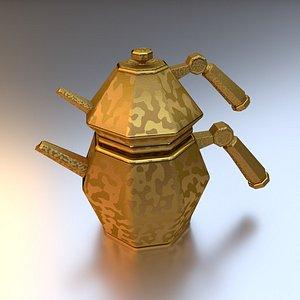 Contemporary Turkish Tea Pot  3D model