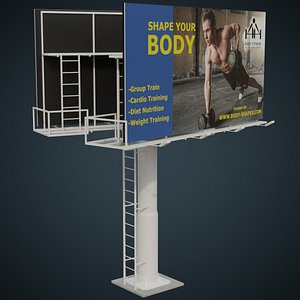 Billboard 2B 3D model