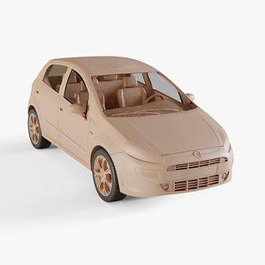 2010 Fiat Punto Evo 3D model