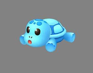 3D Cartoon Sea Turtle - Blue Tortoise Doll Toy
