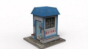 3D model Guard Booth