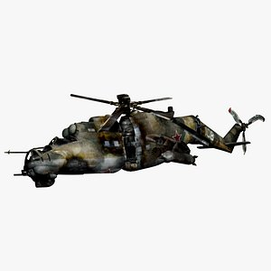 3D model MI-24 Crashed